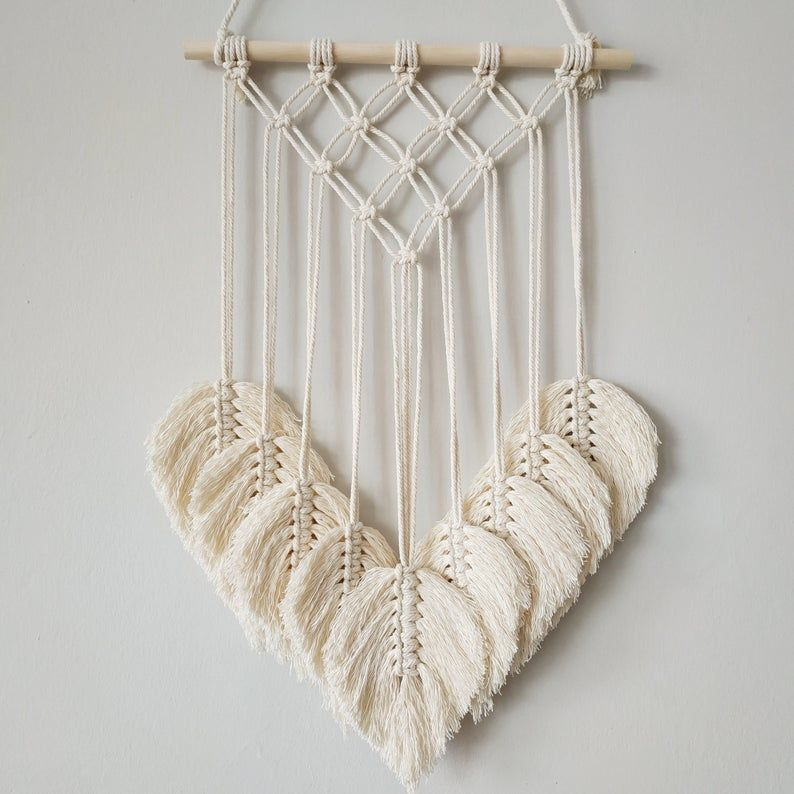 Macrame Wall Hanging, Boho Decor, Macrame Leaf, Ma
