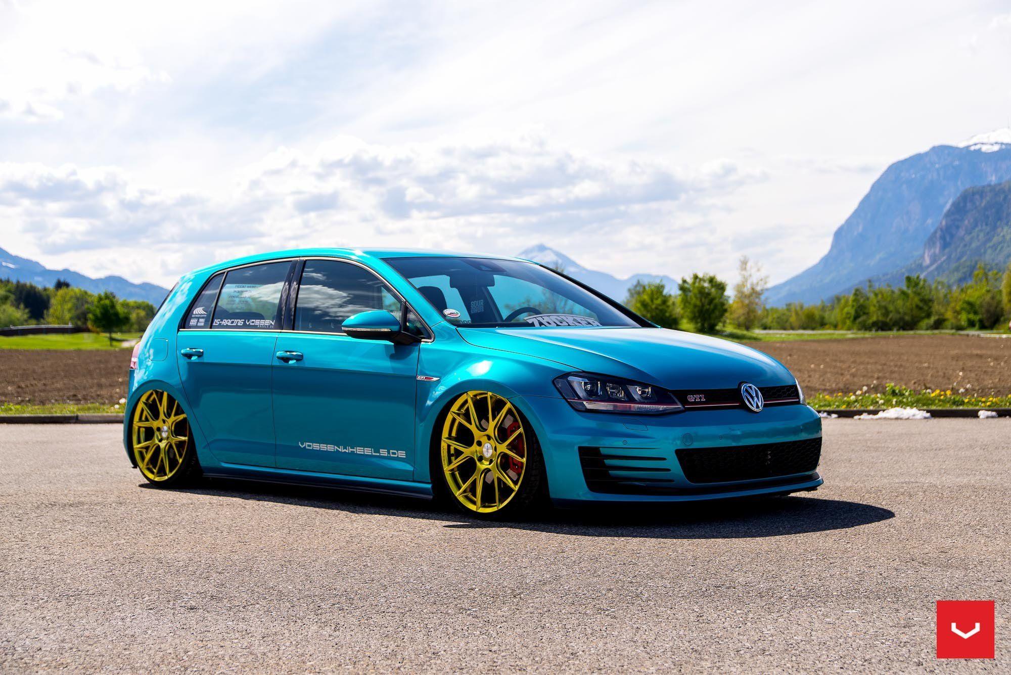 Sky Blue Air Runner Vw Golf Mk7 Gti Gti Mk7 Volkswagen Golf Gti