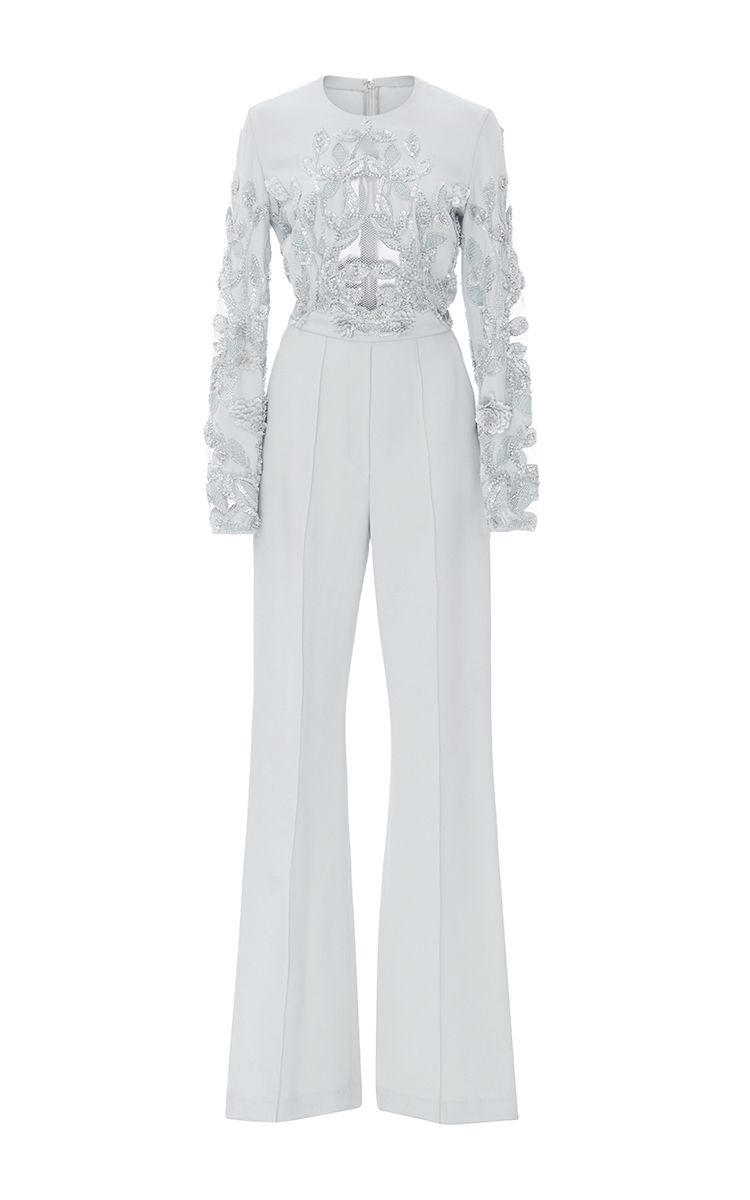 4032f5f087a Lace Embroidered Jumpsuit by ELIE SAAB Now Available on Moda Operandi
