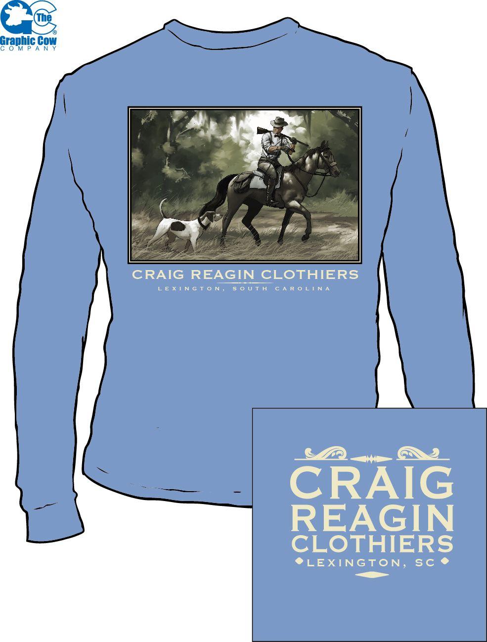 Horseback hunter for Craig Reagan clothiers.