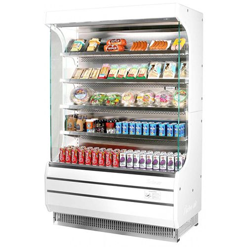 14 7 Cu Ft Full Height Vertical Air Curtain Refrigerated Display