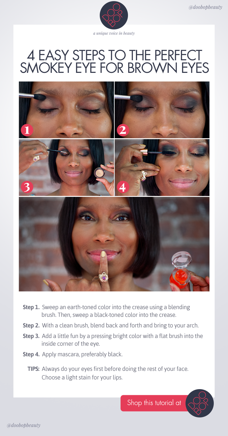 Finally easy steps to the perfect smokey eye for brown eyes