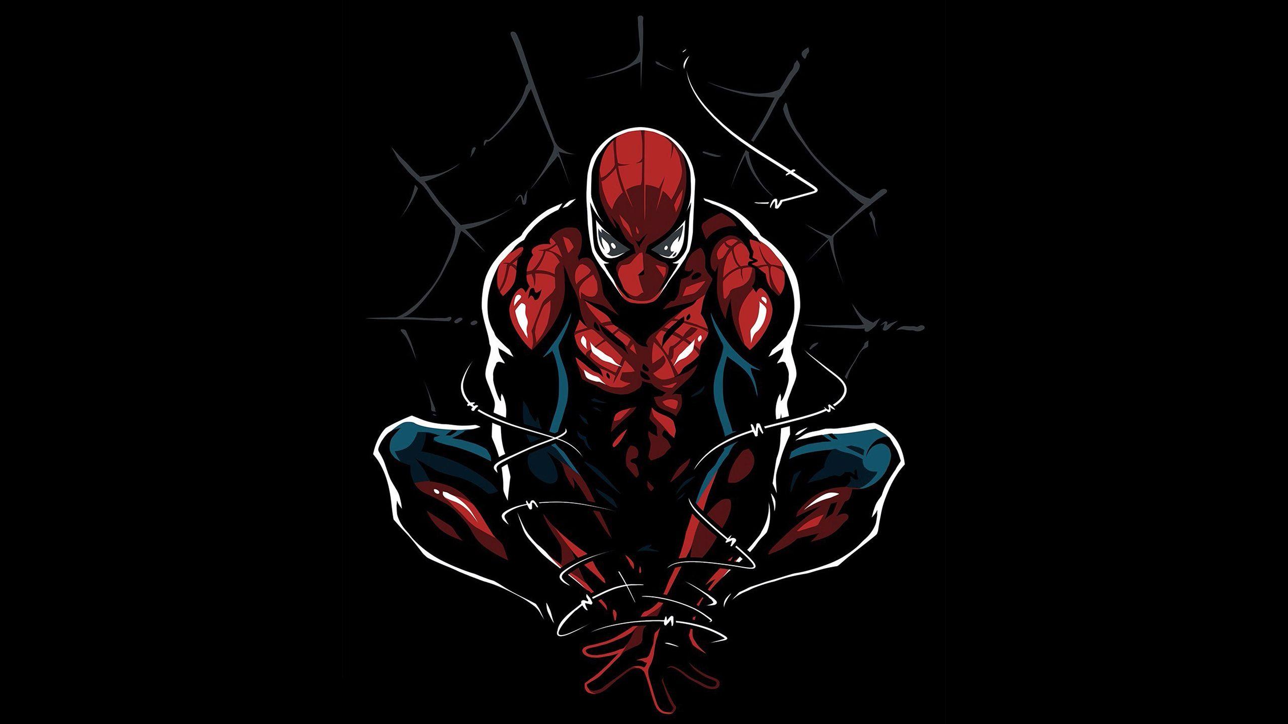 Spider-Man Artwork   Black wallpaper, Spiderman images ...