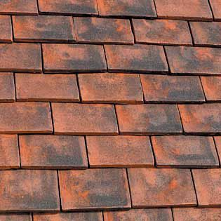 Marley Clay Plain Ashdowne Roof Tile - Aylesham Mix