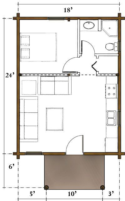 The Liberty | Real Log Homes Floor Plan | Cabin Plans | Pinterest ...