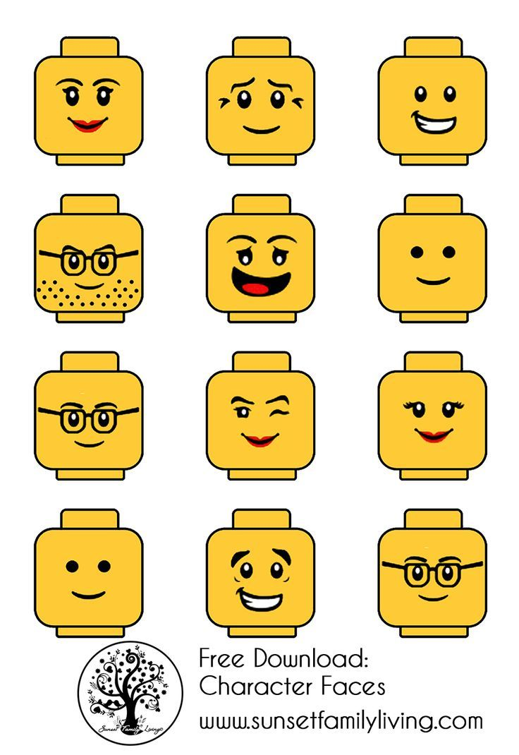 Lego Faces Pinteres