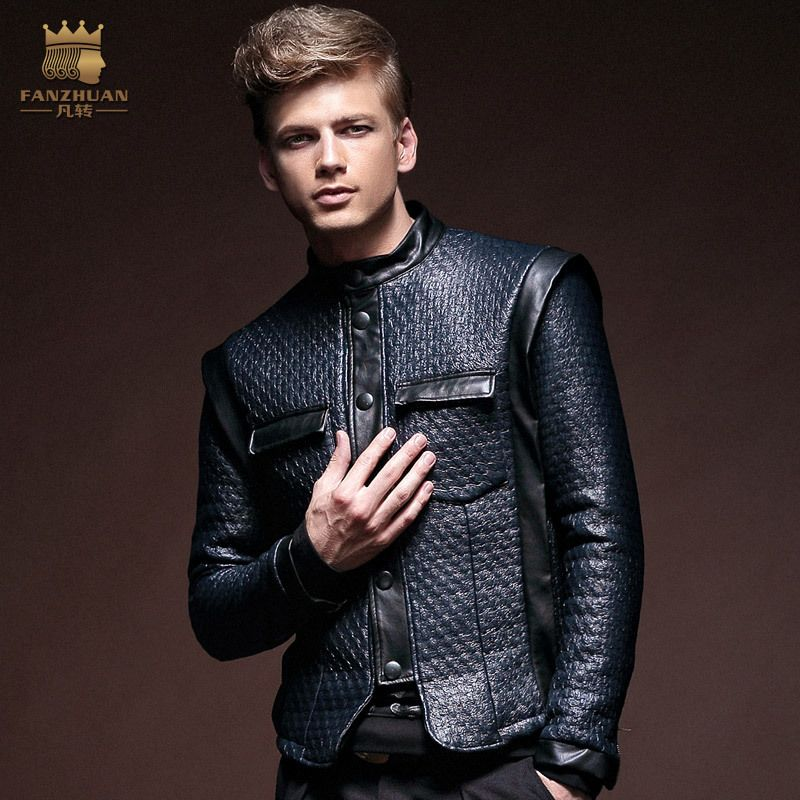 High fashion leather jackets men 2