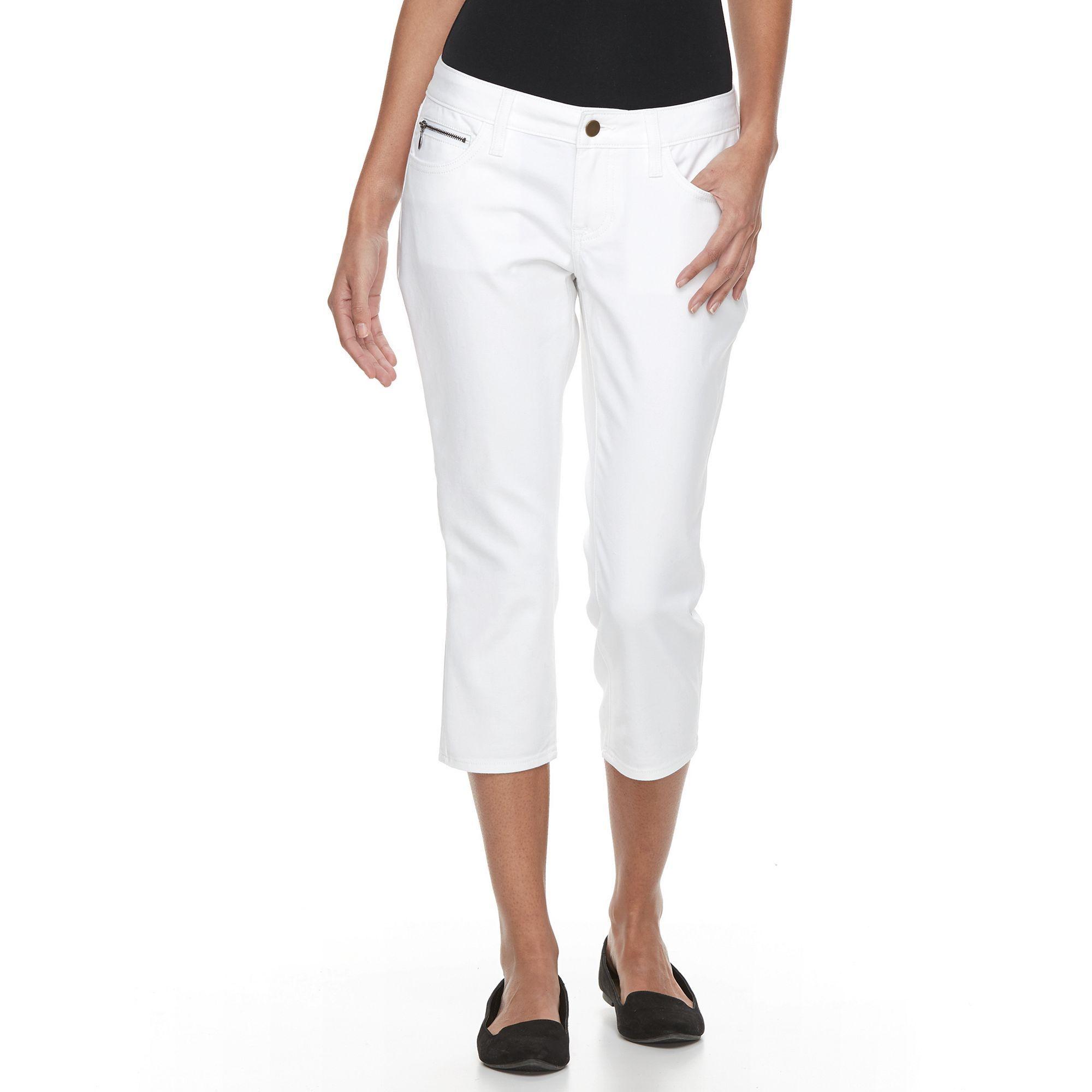 Apt. 9® Modern Fit Skinny Capris, Women's, Size: 16 Petite, White