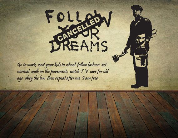 Banksy Wall Decal Wall Art Wall Sticker Vinyl Poster Graffiti Street ...