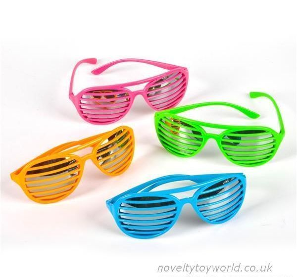 ec78134567 Slotted Sunglasses with Lens - Neon Colours