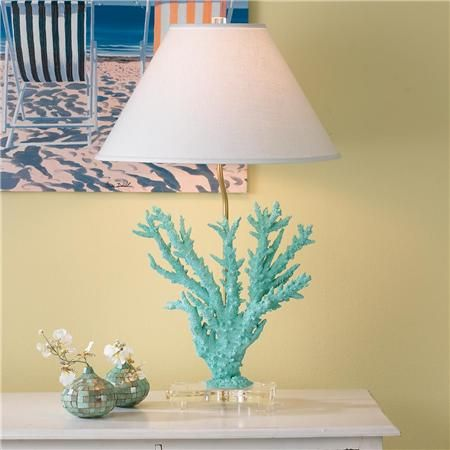 Coral Table Lamp Turquoise Teal Amp Aqua Beach House