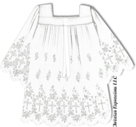 Tailored Priest Surplice with Lace