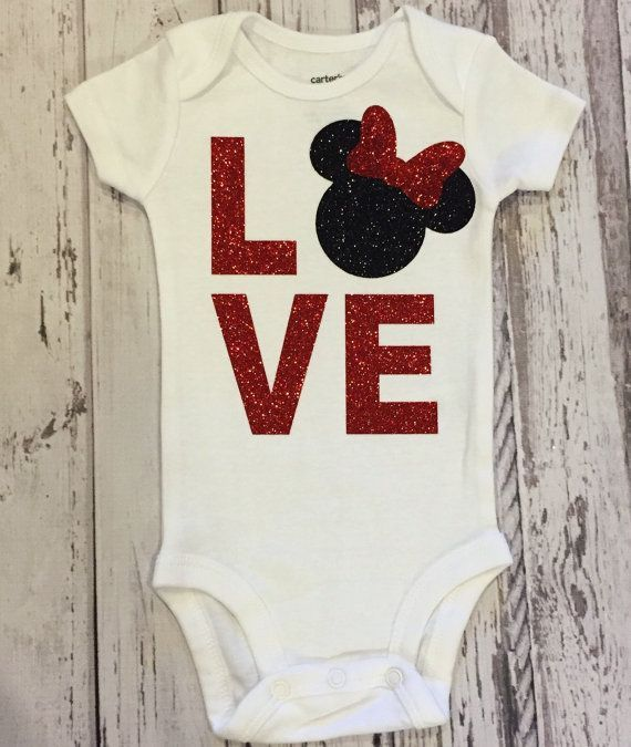 a45233033 This Love Minnie design is made from beautiful red glitter and black  glitter for the Minnie. The sparkly, glitter design does not shed, and is