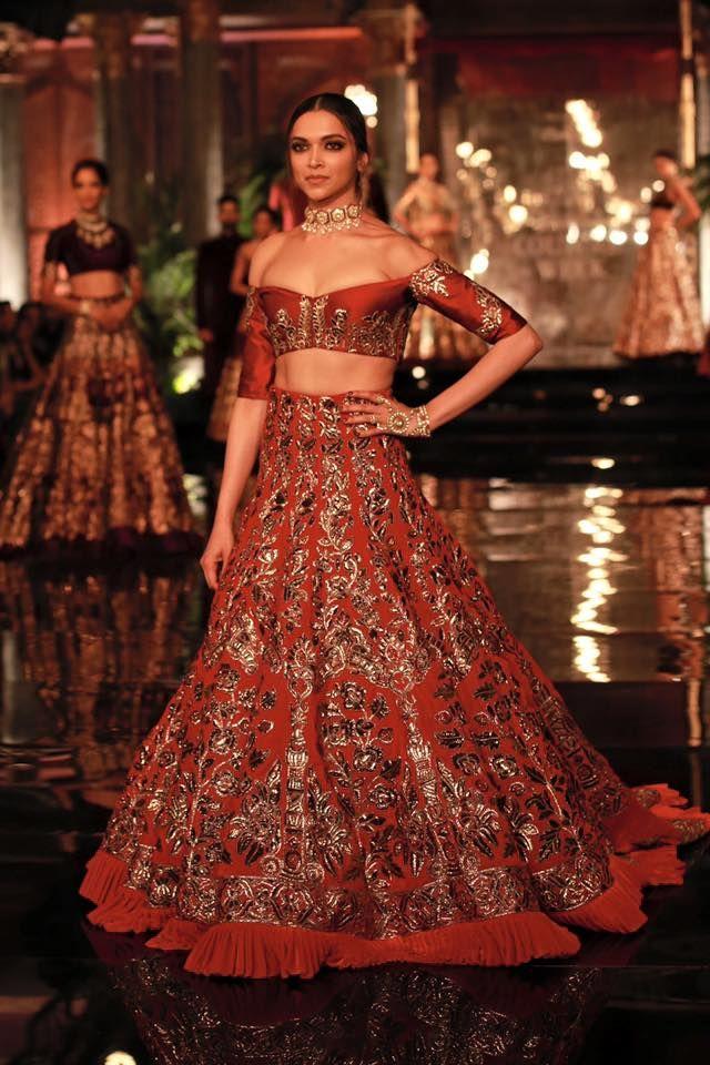 Deepika Padukone walking the ramp for Designer Manish ...
