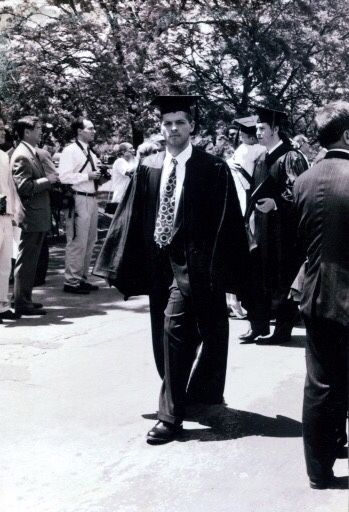 """Misha Collins """" Here's a photo of me on college graduation ..."""