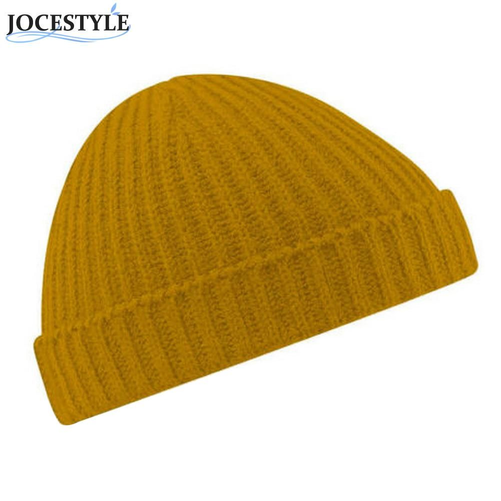 2eb37678827 Click to Buy    Women Men Beanie Hat Warm 5Colors Casual Solid Color  Stretchy Ribbed Winter Turn Up Retro Ski Fisherman Docker Cap Good Quality   Affiliate