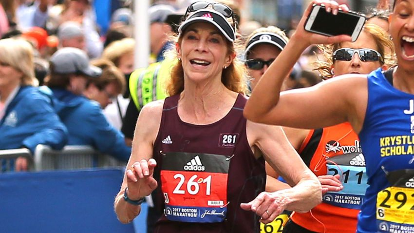 Kathrine Switzer once again crossed the finish line of the