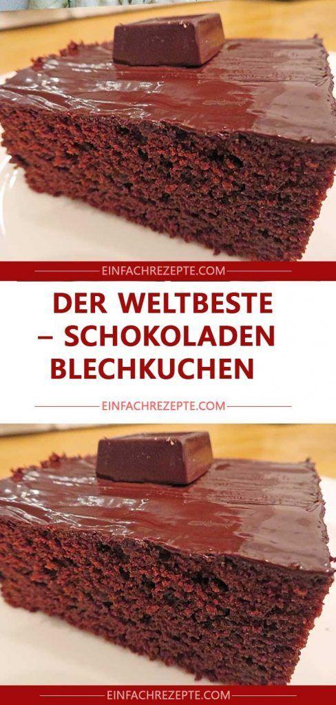 Der weltbeste Schokoladen – Blechkuchen 😍 😍 😍  – Backen