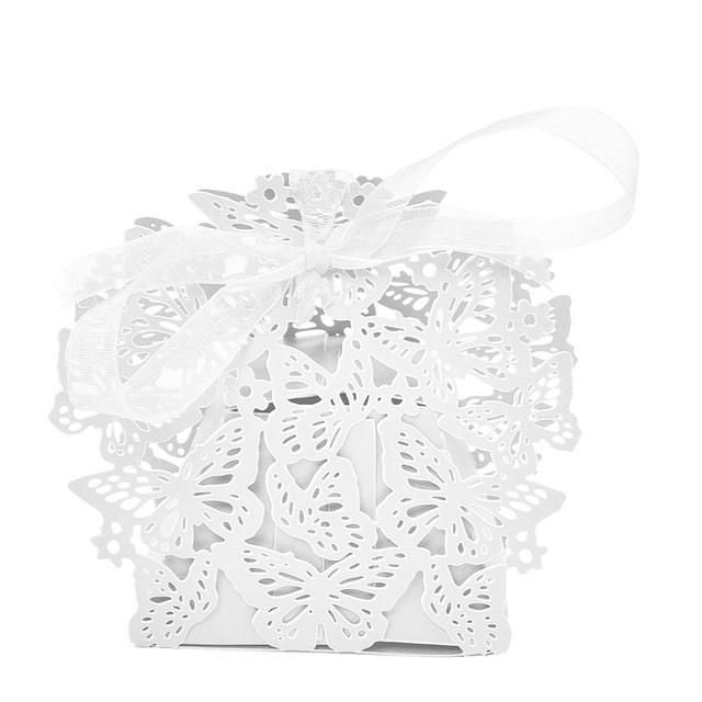 Butterfly Candy Cookie T Boxes With Ribbon