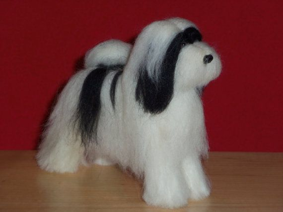 Needle Felted Tibetan Terrier dog custom made to by