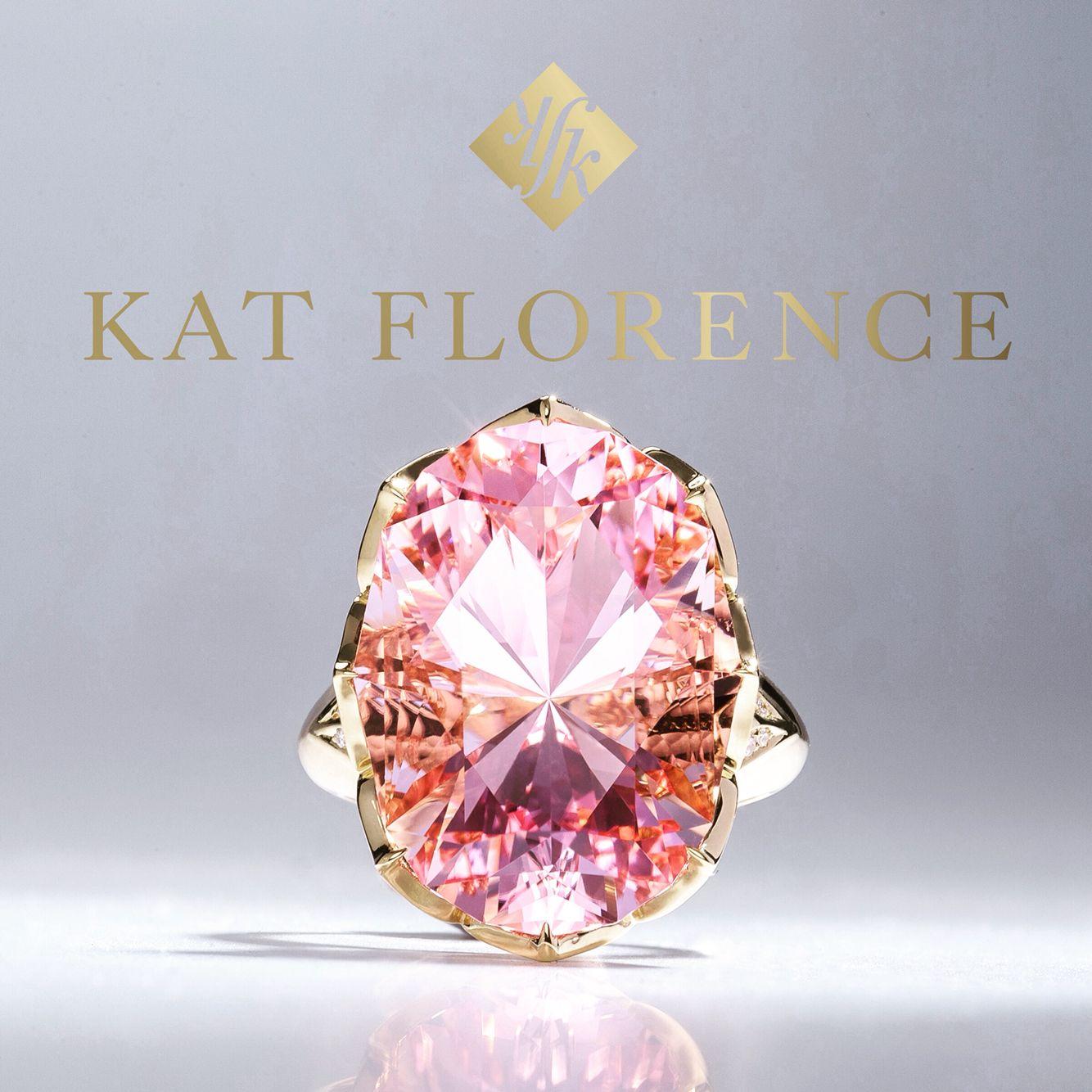 KAT FLORENCE Morganite and Diamond Ring. | Jewelry | Pinterest ...