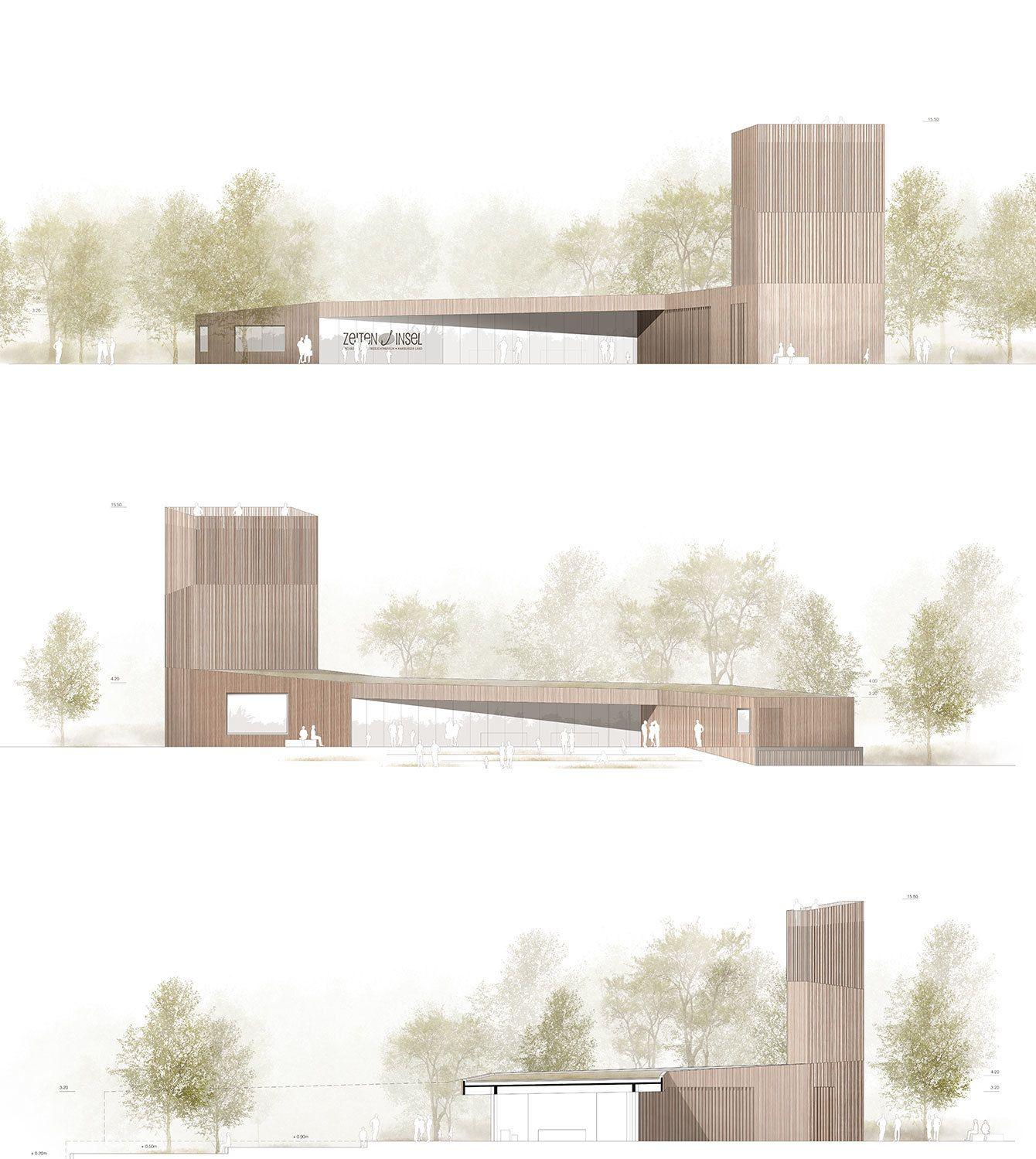 Zeit f r die zeiteninsel wettbewerb im hessischen weimar lahn entschieden hessisch - Architektur ansicht ...