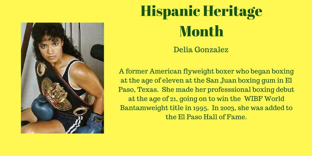 Delia Gonzalez Hispanic heritage, Hispanic heritage