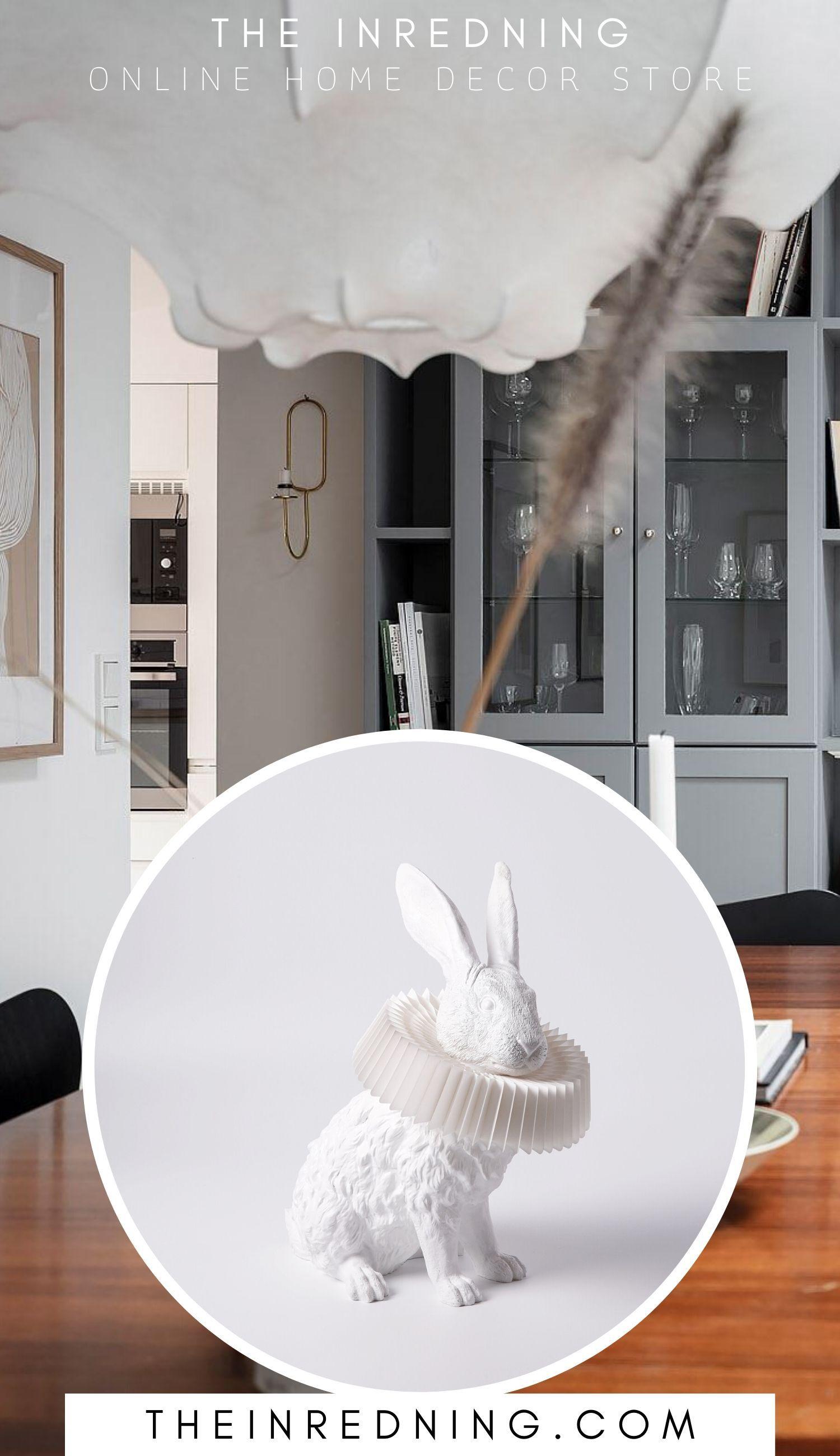 Hasenlampe Mit Deko Skulptur Fur Wohnzimmer Schlafzimmer Kinderzimmer In 2020 Deko Skulpturen Kinder Zimmer Wohnzimmer