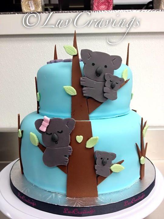 Koala bear cake Vancouver LuvCravings cake fondant dessert