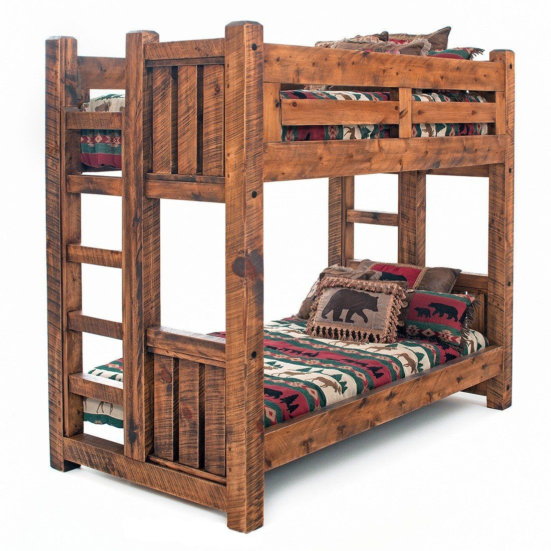 Sawmill Rough Sawn Timber Bunk Bed Rustic Furniture Design Wood