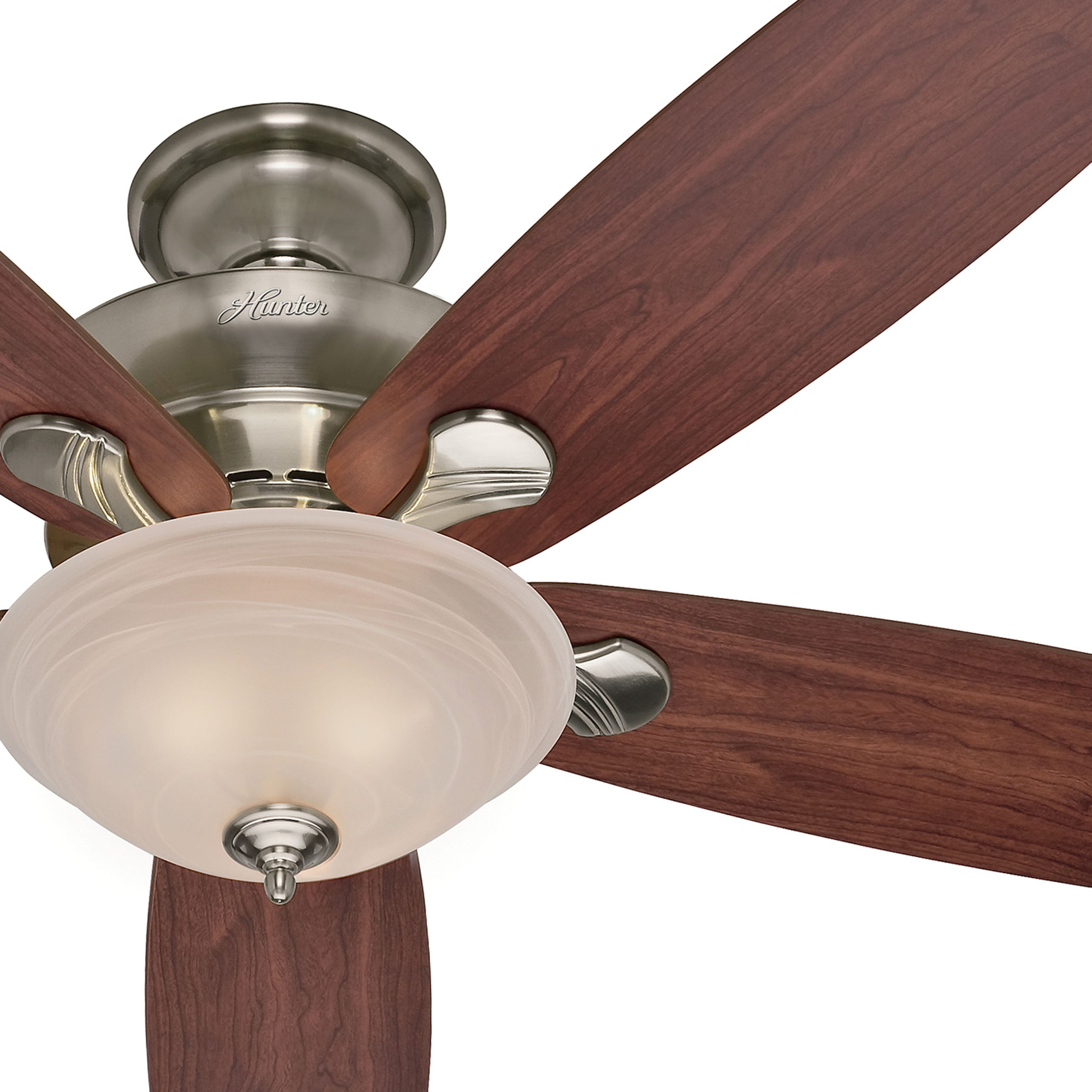 Hunter 60 Inch Brushed Nickel Finish Ceiling Fan With Swirled