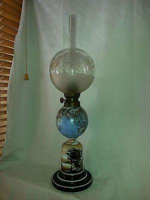 Parfait Opaline Petrole À Rare EtatLampes A Globe Terrestre Lampe 5AL4jRq3