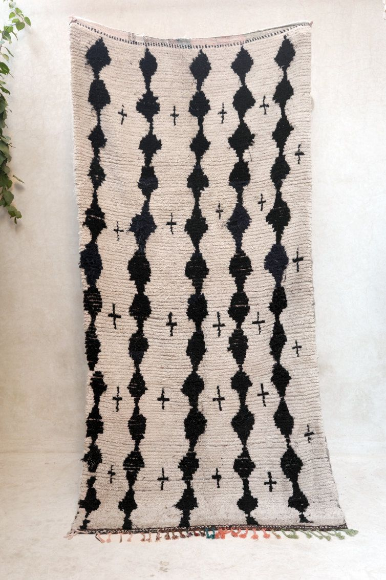 """A LITTLE STARDUST CAUGHT 9'3"""" x 4'6"""" Boucherouite Rug. Tapis Moroccan. Teppich Berber. Mid Century Modern Danish Design Compliment. SA15-28 by pinkrugco on Etsy https://www.etsy.com/listing/246462190/a-little-stardust-caught-93-x-46"""