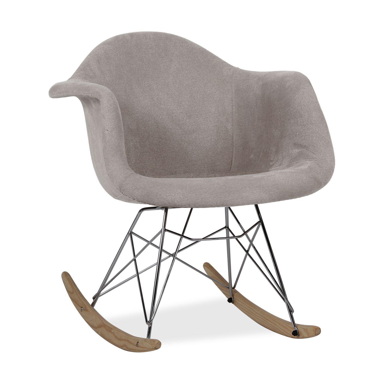 Inspire Par La Chaise A Bascule Rar De Charles Ray Eames La Structure Des Jambes Est Base Sur La To Chaise A Bascule Tapisserie Grise Fauteuil A Bascule