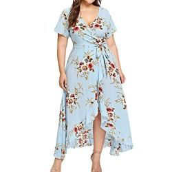 b3e695546a Leewos 2018 New! Summer Plus Size Dresses