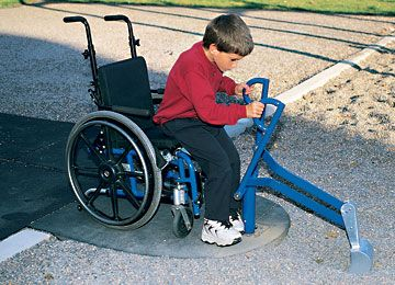 Wheelchair Accessible Superscoop By Landscape Structures Lets Kids Of All Abilities Dig All Day Long On T Playgrounds Architecture Playground Design Playground
