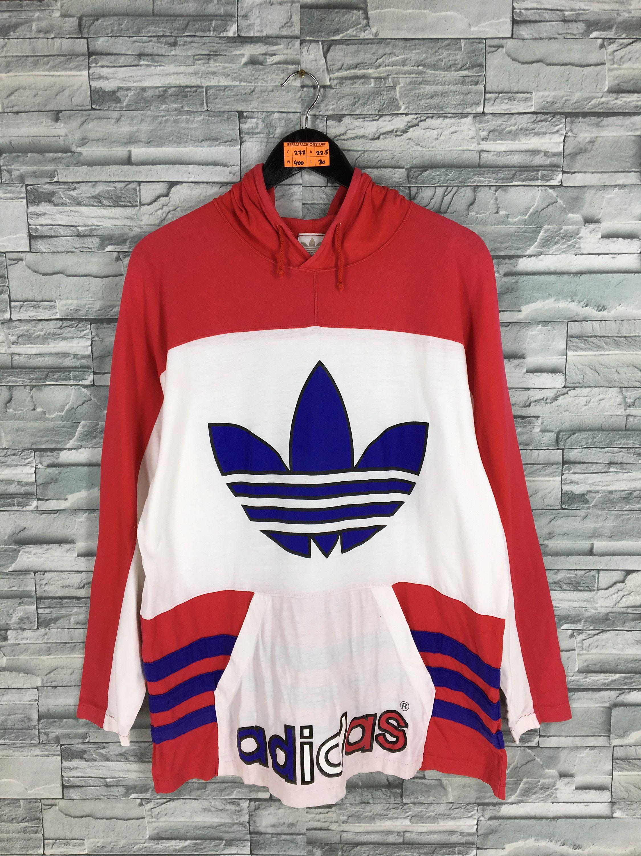 Vintage Adidas Trefoil Hoodie Sweatshirt Large 80s Adidas Big Etsy Adidas Trefoil Hoodie Sweatshirts Hoodie Vintage Adidas [ 3000 x 2250 Pixel ]
