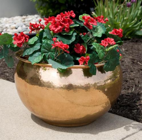 Copper flower pots a beautiful & Copper flower pots a beautiful | Flower Pots | Copper planters ...