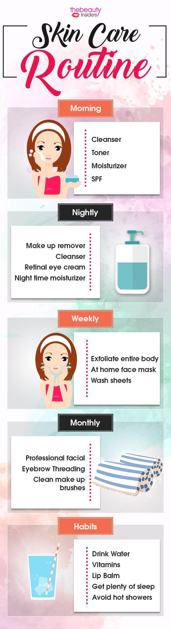 Skin care Routine skincare skincareroutines infographic