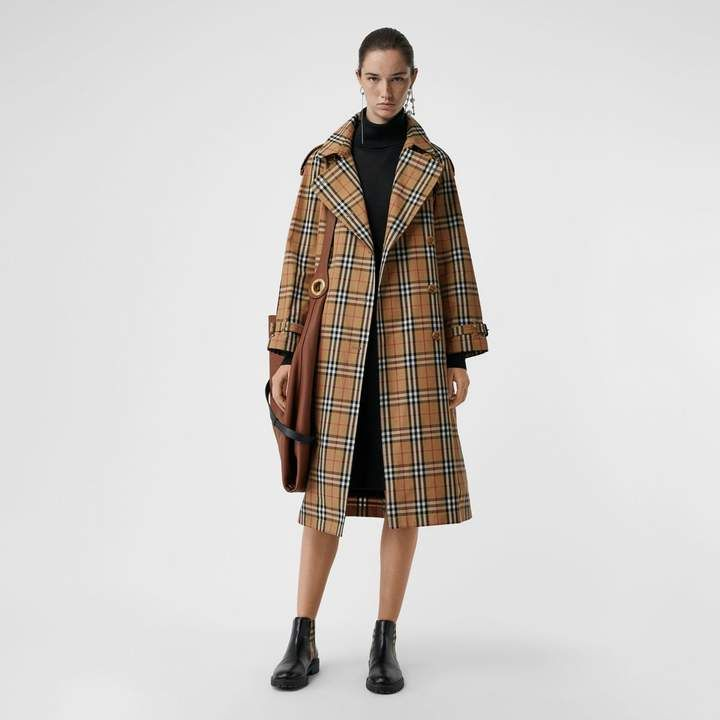 Burberry Vintage Check Cotton Trench Coat   Want, Can t Have ... c9a25b01c84