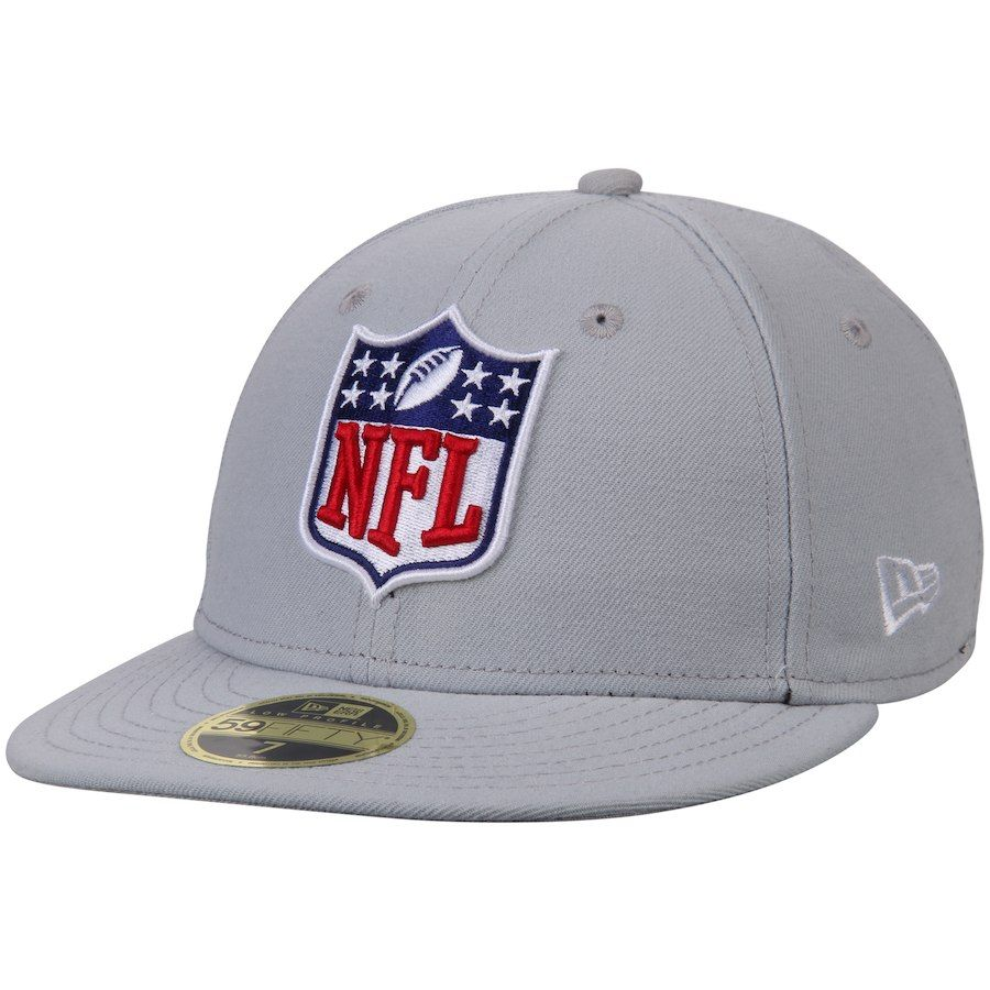 Men s NFL Shield New Era Gray Logo Low Crown 59FIFTY Fitted Hat ... 1602b6de4