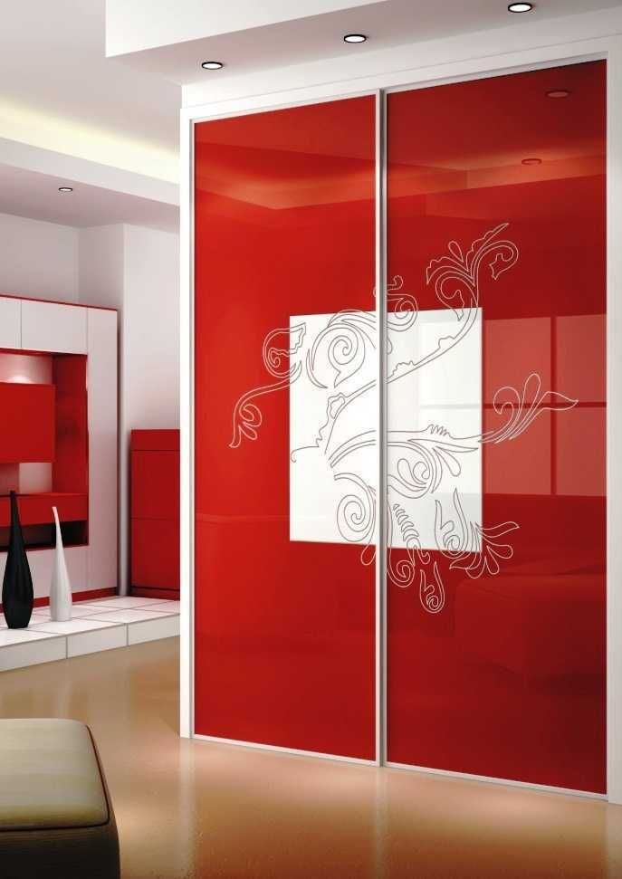 Fine-designed Sliding Closet Doors for Bedrooms: Contemporary Red ...