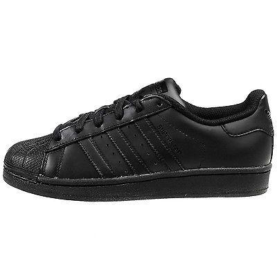 586ce209dbc2 Adidas Superstar Foundation J B25724 Black Shoes Big Kids Sneakers Youth Sz  7