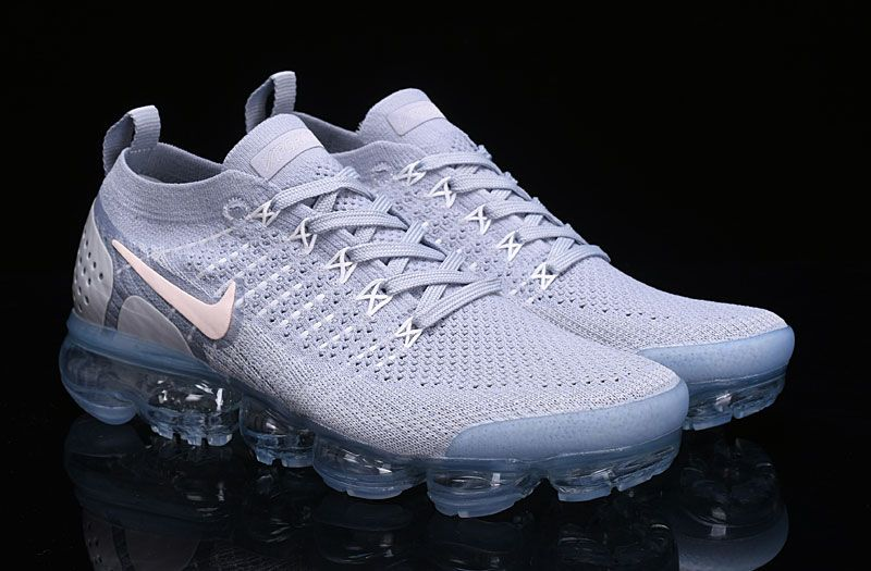 e7c648a3fbc Nike Air VaporMax 2018 OW 2.0 Flyknit White Gray Women Men Nike Air Vapormax