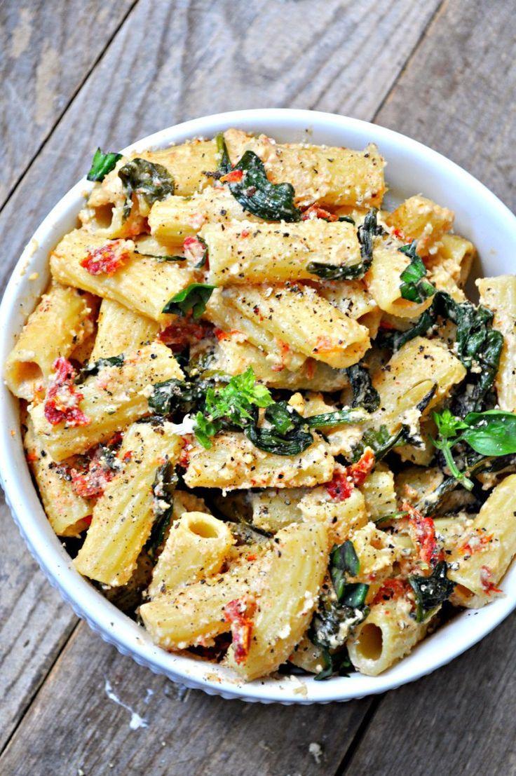 Vegan Tuscan Rigatoni #easythingstocook