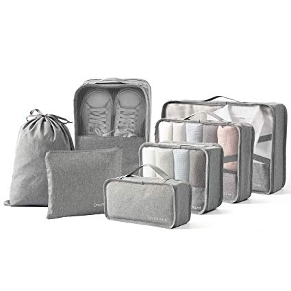 Amazon Com Bimnoot Packing Cubes 7 Pcs Travel Luggage Packing Organizers Set With Laundry Bag Sho Travel Luggage Packing Packing Luggage Packing Bags Travel