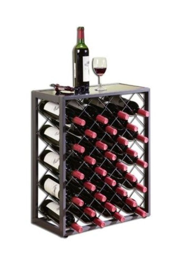 Wine Racks Free Standing Floor Bar Furniture Storage Table Kitchen