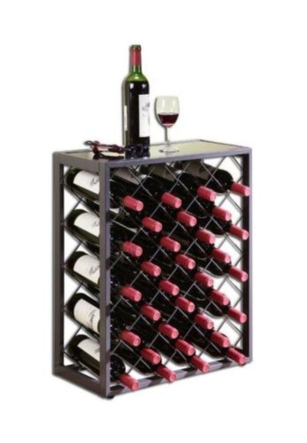 Wine Racks Free Standing Floor Bar Furniture Storage Table Kitchen Glass Bottle #MangoSteam