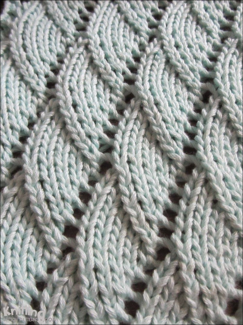 Overlapping Waves knitting pattern | knittingstitchpatterns.com ...