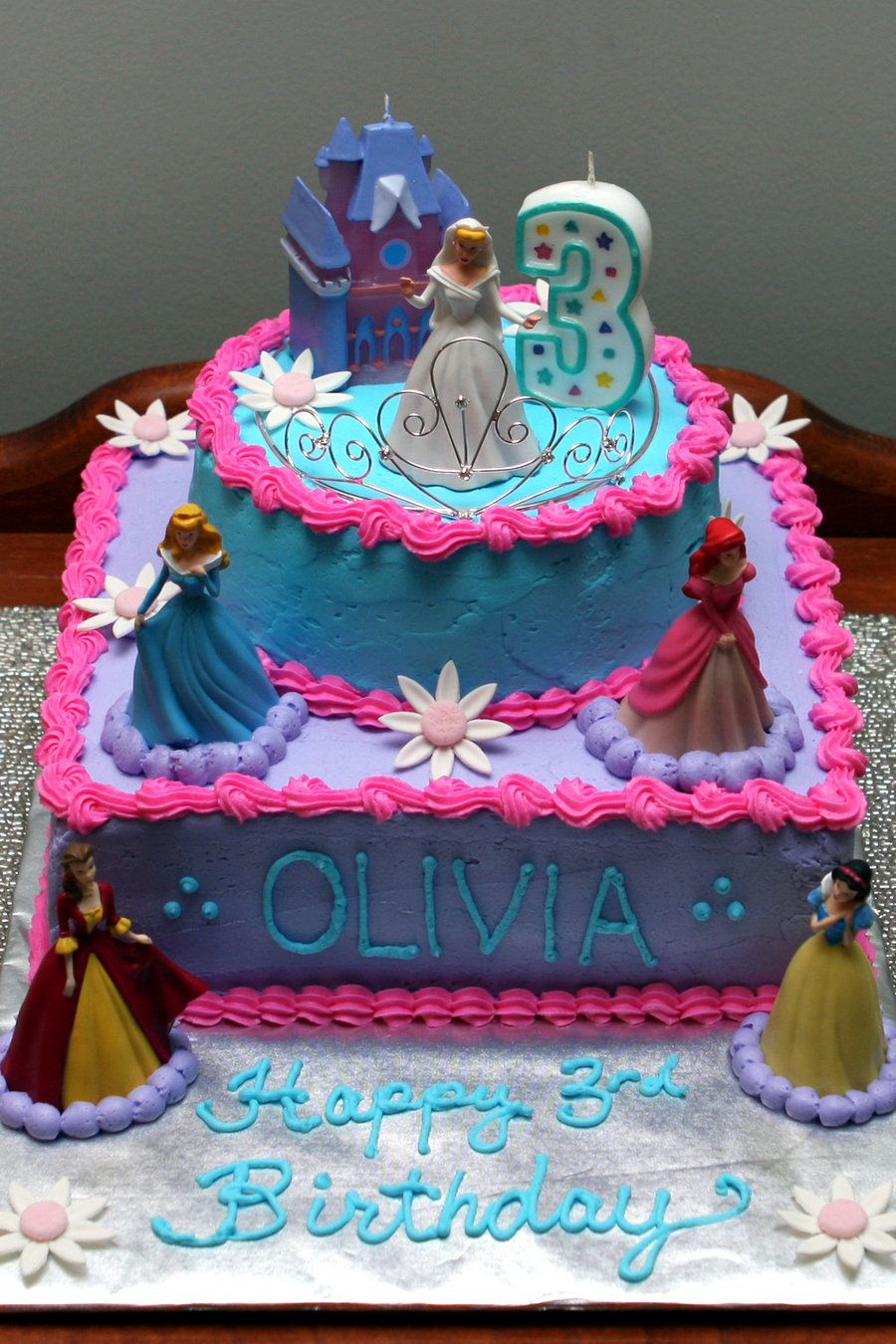 Disney Princess Cake By Request Marble Cake With Oreo Buttercream